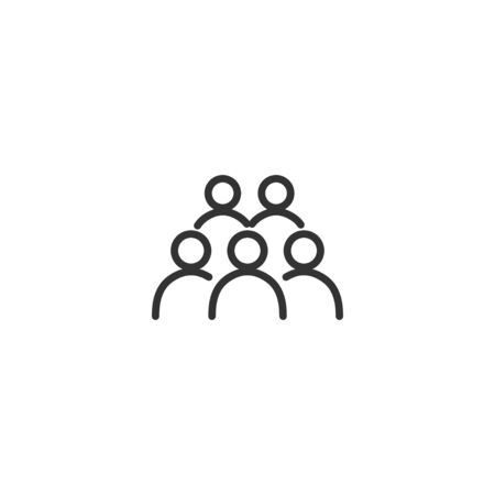 People line icon in simple design on a white background Иллюстрация