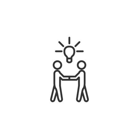 Idea by teamwork line icon in simple design on a white background Stockfoto - 131836727