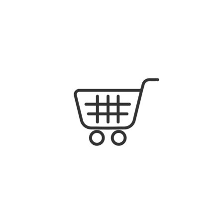 Shopping chart line icon in simple design on a white background Illustration