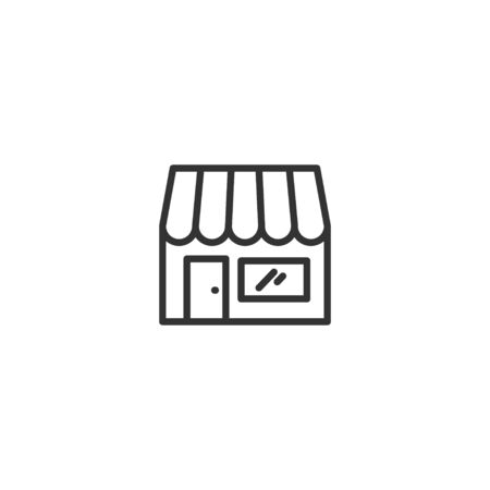 Store line icon in simple design on a white background