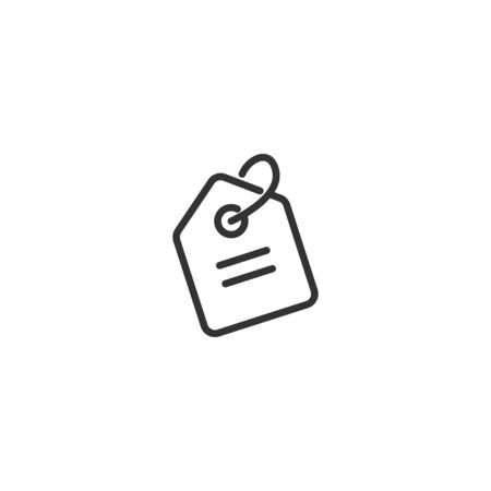 Price tag line icon in simple design on a white background