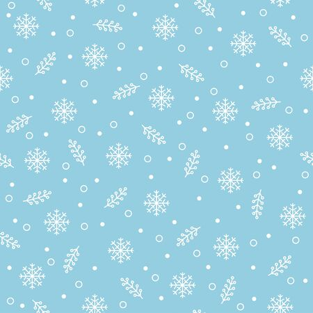 Seamless pattern with snowflakes. Merry Christmas background