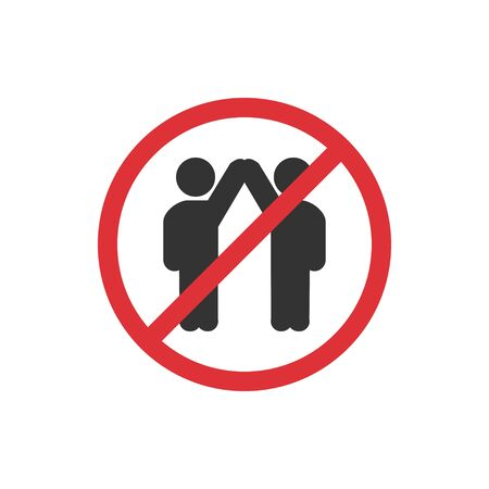 No touch people icon in a flat design. Vector illustration Reklamní fotografie - 142254517
