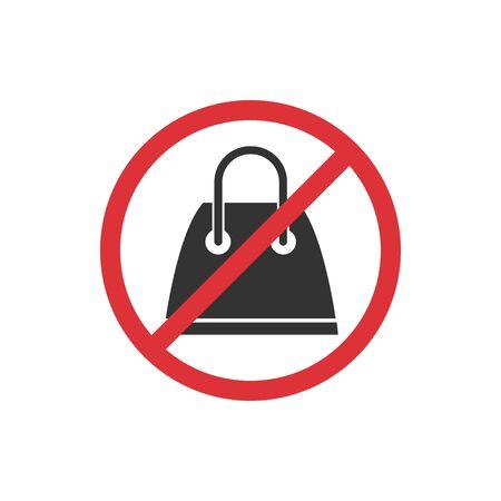 No shopping. Prohibition sign for quarantine. Public access restriction Ilustrace