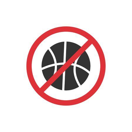 No sport competitions. Prohibition sign for quarantine. Public access restriction Reklamní fotografie - 142254521