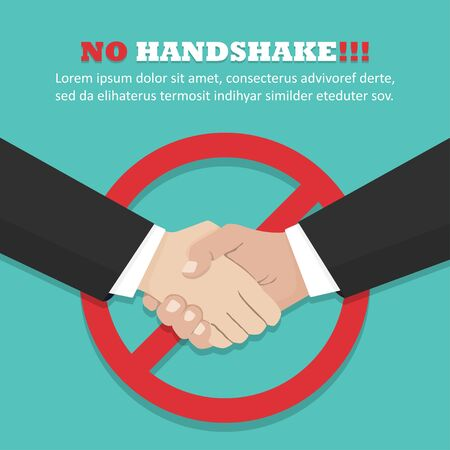 No handshake concept in a flat design. Vector illustration