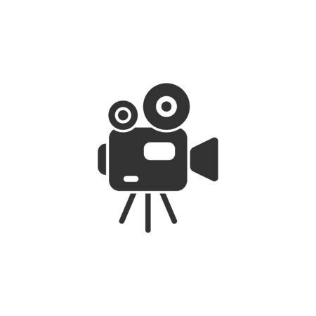 Video camera icon in simple design. Vector illustration Reklamní fotografie - 142673123
