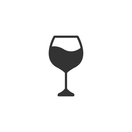 Wine glass icon in simple design. Vector illustration