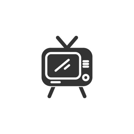 TV icon in simple design. Vector illustration