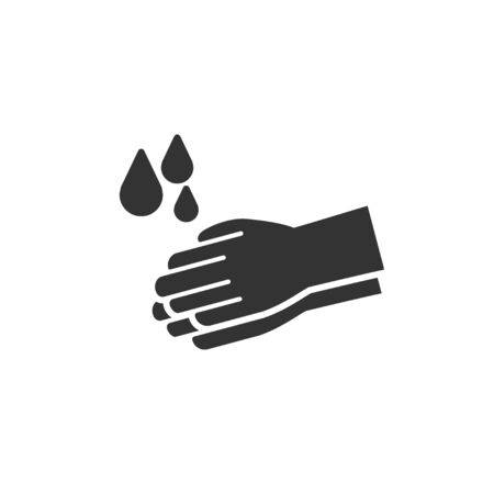 Wash hands icon in simple design. Vector illustration Ilustrace