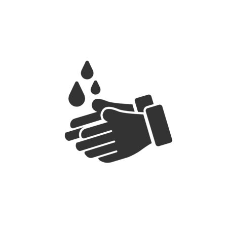Wash hands icon in simple design. Vector illustration Reklamní fotografie - 142673116