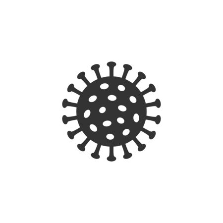 Coronavirus icon in simple design. Vector illustration