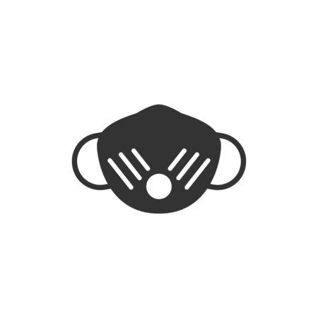 Mask prevent icon in simple design. Vector illustration
