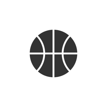 Basketball ball icon in simple design. Vector illustration