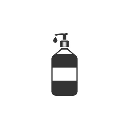 Hand sanitizer icon in simple design. Vector illustration
