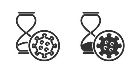 Incubation period icon in two versions in simple design. Vector illustration