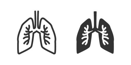 Lungs icon in two versions in simple design. Vector illustration Ilustrace