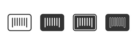 Bar code icons in four different versions in a flat design Ilustrace