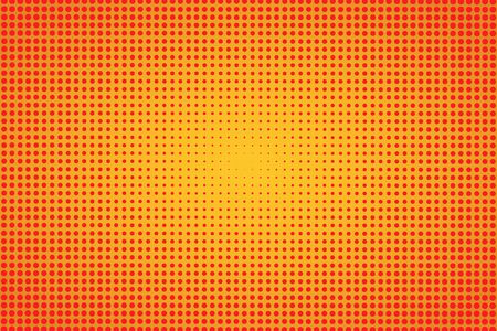 Orange retro halftone background. Halftone texture. Vector illustration