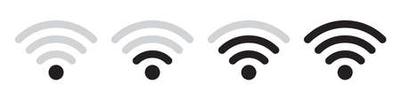 Wifi vector icons collection in simple design