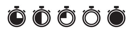 Stopwatch vector icons collection in simple design