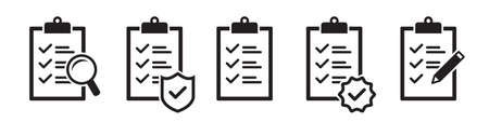 Checklist vector icons collection in simple design Ilustrace