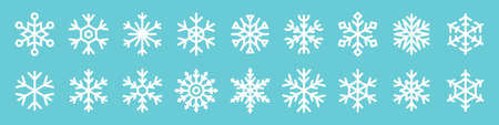 Set of snowflake icons for Christmas and New Year design