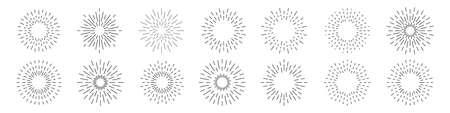 Set of sunburst collection. Vector illustration eps10 Ilustrace