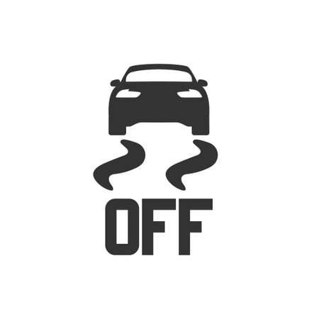 Seat heating icon in simple design. Vector illustration