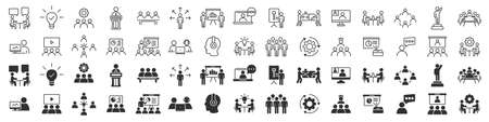 Fitness and sport excellent icons collection in two different styles
