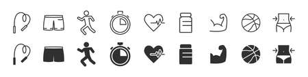 Social networks icons collection in two different styles