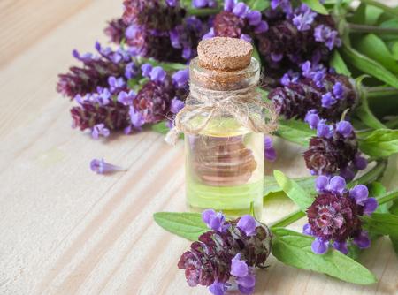 Medicinal herb. Common self heal (Prunella Vulgaris) scented oil