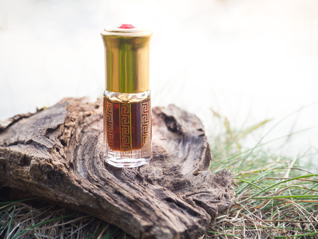Arabian oud attar or agarwood oil fragrances in mini bottle