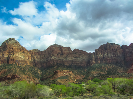Mountain landscape of the Zion National Park in Utah Stock Photo