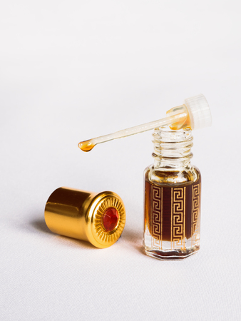 Amber oil bottle. Traditional Arabic incense