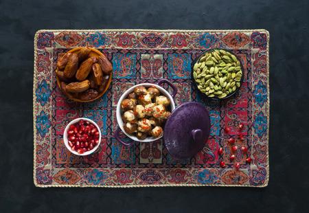 Persian Koofteh Berenji - Rice Kufta. Meat meatballs. Stock Photo