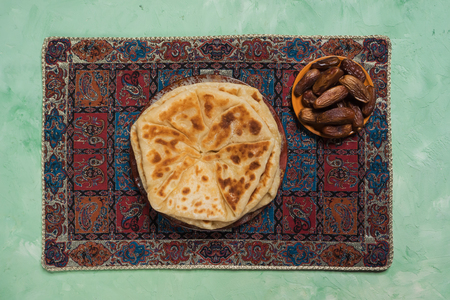 Afghan snacks. Afgan potato and scallion bread - Bolani Kachaloo.