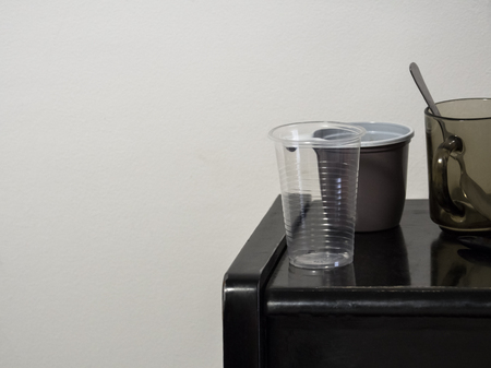Various disposable cups for coffee and tea 版權商用圖片