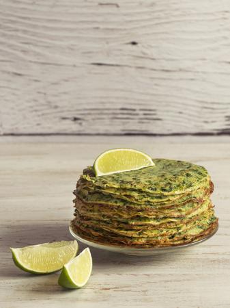 Spinach Adai - Indian green pancakes. Ramadan food. Stock Photo