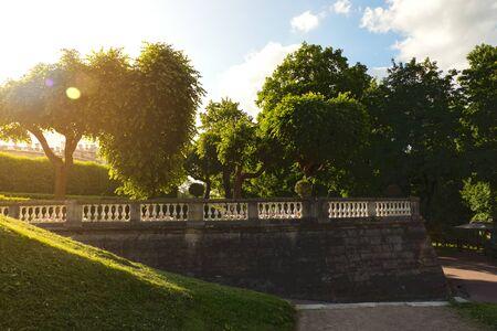 Summer sunny landscape in the park. Gatchina. Russia. Zdjęcie Seryjne