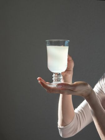 Antibiotics in a glass. The fight against viruses. Home treatment concept.