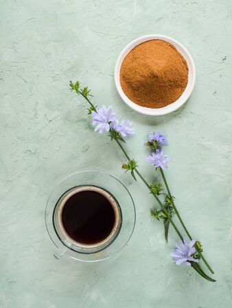 Diabetic coffee with chicory. Alternative replacement for black coffee