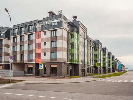 New residential neighborhood in the South-West of Saint Petersburg.