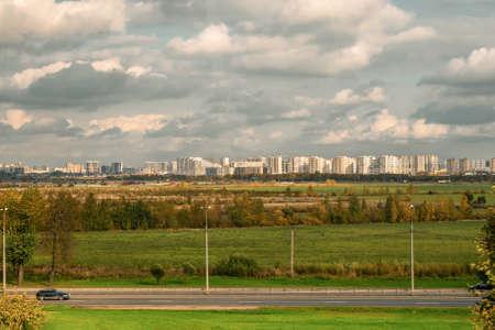 Saint-Petersburg. Views of the city on the horizon in autumn.