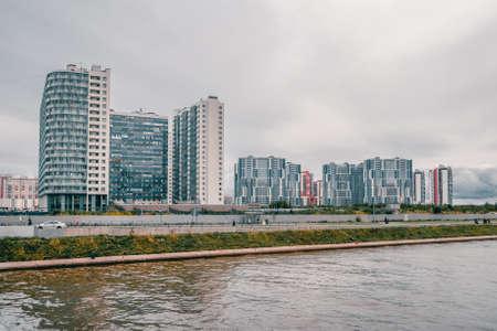Residential neighborhood in the South-West of Saint Petersburg.