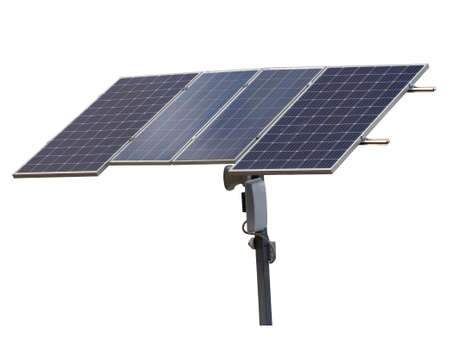 Solar panel isolate on a white background