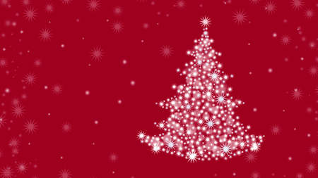 Christmas background with Christmas tree and on a red background. 版權商用圖片