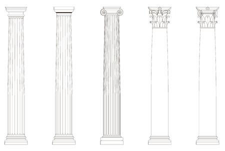 doric: a set of columns