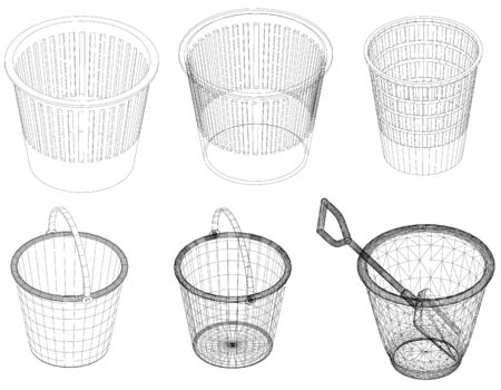 wastepaper basket: trashcan
