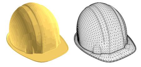 hat with visor: gold helmet